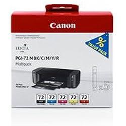 Canon Original-Canon Pixma Pro 10S (pgi-72/6402B 009)-Cartouche d'encre multi pack mattblack Cyan Magenta Jaune Red