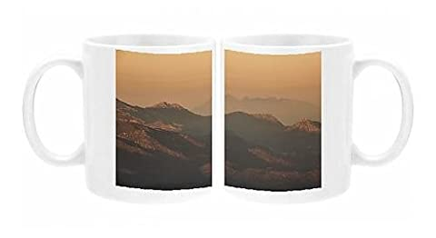 Photo Mug of Mountain Range at sunset