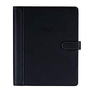 2019-2020 Eccolo Large Spiral Bound Agenda Planner, 18 Months of Monthly & Weekly Views, 8 x 10