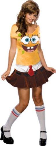 Rubbies - Disfraz de Bob esponja para niña, talla M (888768_M)