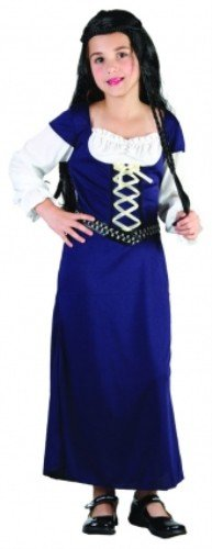 Kinder Mädchen Maid Marian Kostüm für Mittelalter Mittelalter Robin Hood Fancy Kleid Höhe: 110–120cm (Und Marian Maid Robin Hood)
