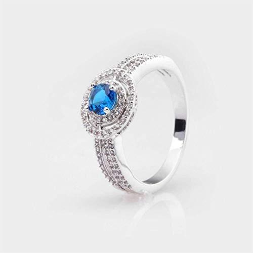 QINGZHOUQI Galvanisierter Goldzirkon-Ring for die Frauen, die Geburtstags-Tour Wedding (Color : B, Größe : 11#) (Hochzeit Ringe Größe 11 Frauen)