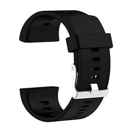 woopower fascia per polar v800, morbido regolabile silicone sostituzione cinturino per orologio per polar v800gps orologio sportivo, attrezzo di riparazione include, nero, taglia libera