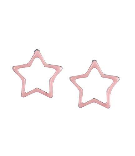 Ohrringe in Rosa, Glow in The Dark, Stern Form für Kinder und Teenager, leuchten im Dunkeln (296-949) ()