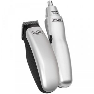 Wahl WA-9962-1417 Mens Grooming Gear Travel Pack Battery Hair Ear And Nasal Trimmer Set