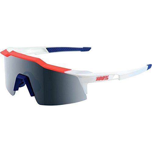 100% speedcraft–Gafas de sol unisex, color azul/blanco/rojo
