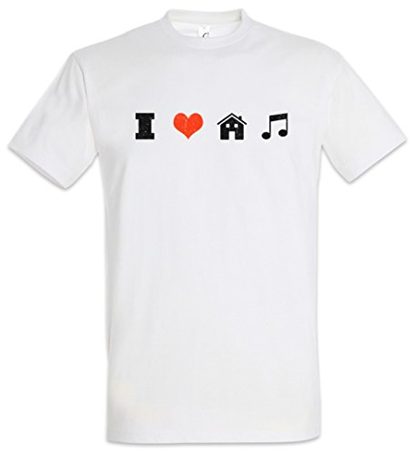 "I Love House Music ""J"" T-Shirt – Electro Dance Techno Disco Acid Chillout Minimal DJ Club After Hour XTC Indie Tunes Tamaños S – 5XL"