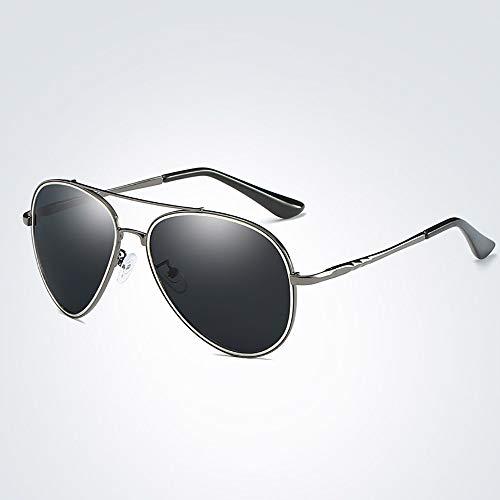 WULE-RYP Polarisierte Sonnenbrille mit UV-Schutz Klassische Klassische Sonnenbrille für Männer, polarisierte, Bunte Brille. Superleichtes Rahmen-Fischen, das Golf fährt (Farbe : Gun Frame/Grey)