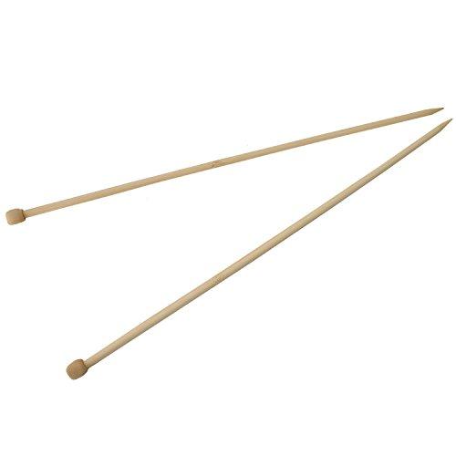 maDDma  1 Paar Bambus-Stricknadeln Größe 5mm gerade 35cm Holz-Stricknadel kaufen Natur