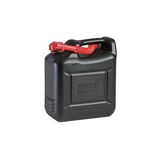 Kraftstoff-Kanister COMPACT 10l für Benzin, Diesel und andere Gefahrgüter, UN-Zulassung, made in Germany, TÜV-geprüfter Produktion, schwarz