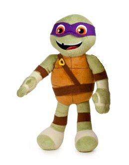 Ninja Turtles (Teenage Mutant Ninja Turtles) - Plüsch Donatello (violett 32cm) neuen Film Half-Shell Heroes, Qualität soft - lila (Ninja Turtle Donatello)