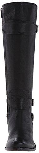 Frye Anna Gore Tall Rund Leder Mode-Knie hoch Stiefel Black