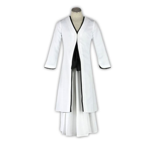 Dream2Reality japanische Anime Bleach Cosplay Kostuem -Kurosaki Ichigo Bankai 2nd Ver-White Kid Size Large