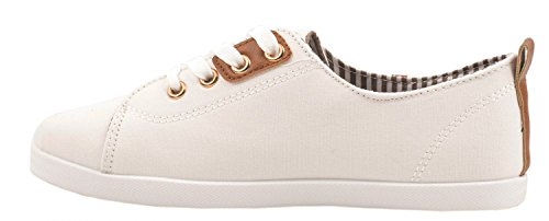 Elara Basic Sneakers | Sportlich Bequeme Turnschuhe | Low Schnürer Weiss London