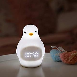 Yarmy Wecker Cute Bean Snooze Wecker mit Sound-Control zum Aufwachen von kleinem Nachtlicht Kreative Nachttischlampe mit Verstellbarer LED-Lampe