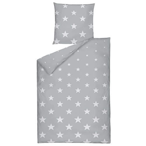 Grau Sternen Bettwaeschede