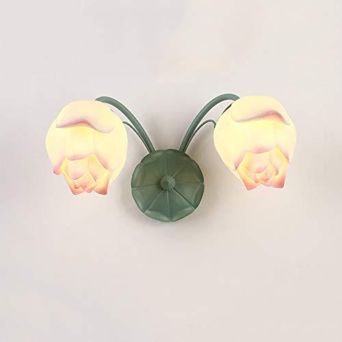 Mxbbg Nordic kreatives Design Wandleuchte Schlafzimmer Wandleuchte Nachttischlampe Wohnzimmer Korridor Lichter Sofa Leuchte Wandleuchte Arbeitszimmer/Schlafzimmer/Flur/Treppen Bracket Lichtdekor