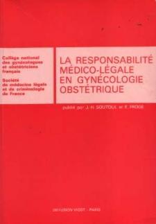 La Responsabilite Medico Legale En Gynecologie Obstetrique