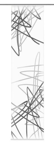 Home Fashion 87155-703 Owen - Panel japonés, 245 x 60 cm, diseño de Seda con impresión Digital, Color Gris