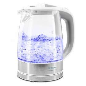 Cecotec Hervidor de Agua Eléctrico ThermoSense 350 Clear. 1,7 litros, Libre de BPA, 2200 W, Base 360º, Filtro Antical, Doble Sistema de Seguridad, 1.7 litros, Vidrio Borosilicato