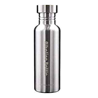 Global Care Market New Alkaline Water Bottle Big 650ml Capacity Nano Energy Water Flask Stainless Steel Alkaline Water Filter Bottle to Naturally Enhance Drinking Water