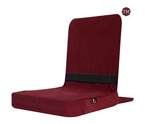 Friends of Meditation Back Jack Meditation Chair (Maroon)