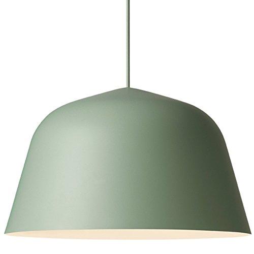 Deckenlampe Einzelner Haupteisen-Leuchter-kreative Schlafzimmer-Café-Stab-Esszimmer-Decken-Lampe Hängelampe (Color : Green-L) -