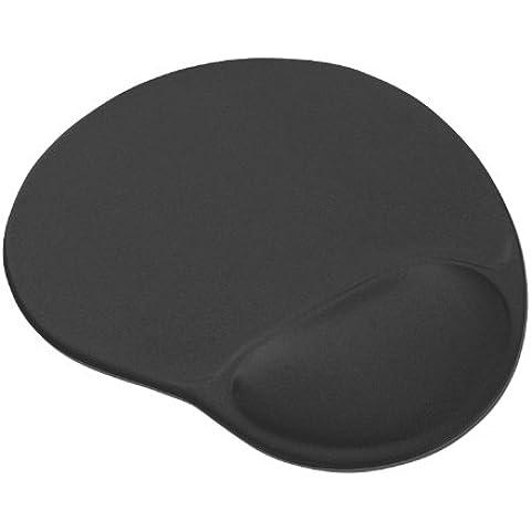 Trust Bigfoot - Alfombrilla para ratón ergonómica con relleno de gel, color negro