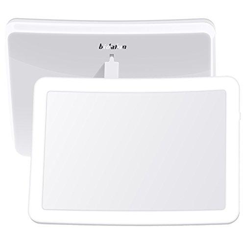 Oval Tv-fach (Bidafun Kosmetik Spiegel Mit LED Beleuchtung Power Bank)