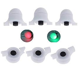 Nai-style Pêche Capteur LED Rod Night Light Pêche Grève Alerte Glow Stick Bite Pêche d'alarme Tackle Alarme LED pour La Pêche à L'appât Signal Sonore pour Canne à Pêche Sensible Alarme de Touche