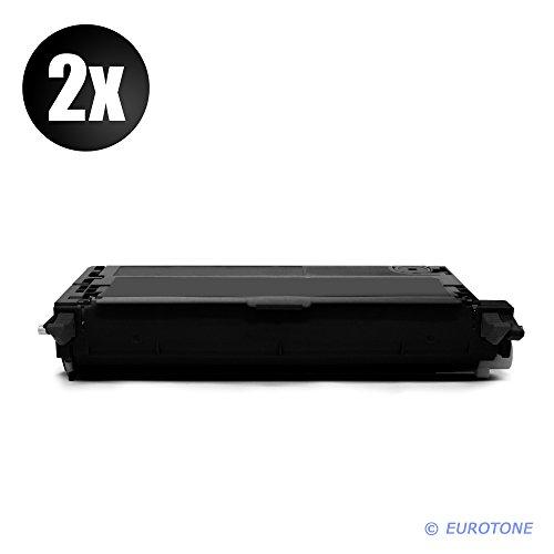 2X Eurotone Toner Cartridges für Epson Aculaser C3800 DN DTN N ersetzt Schwarze Patrone - kompatible Premium Alternative - Non OEM - Epson Toner Refill -