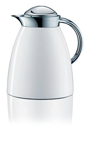 Alfi 3551.211.100 Isolierkanne Gusto Tea, 1 L, Metall, 16,6 x 20 x 22 cm, alpinweiß