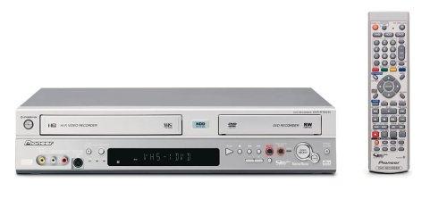 Pioneer DVR-RT 601 H-S VHS-/DVD-Rekorder mit Festplatte 80 GB Silber - Dvr-dvd-rekorder Festplatte