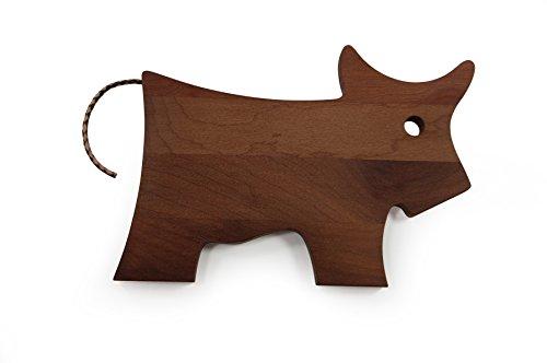 Schneidebrett Frühstücksbrett Kuh, Holz Platane