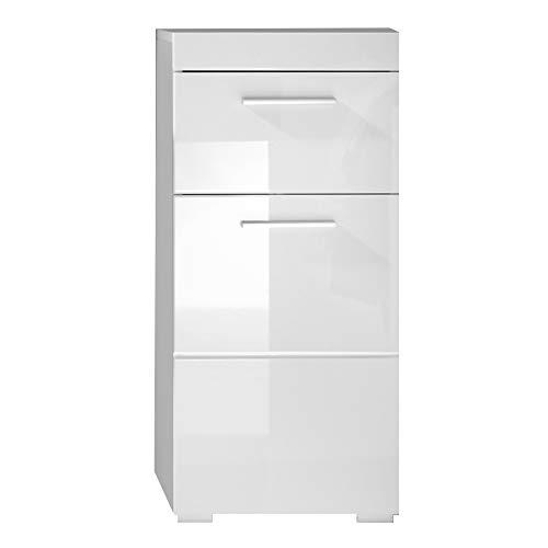 Trendteam smart living mobili, derivato del legno, bianco lucente, 37 x 79 x 31 cm