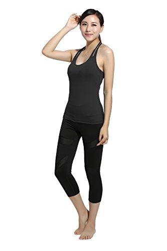 Lotus Instyle femmes sans manches Gilet Sport T-shirt Black