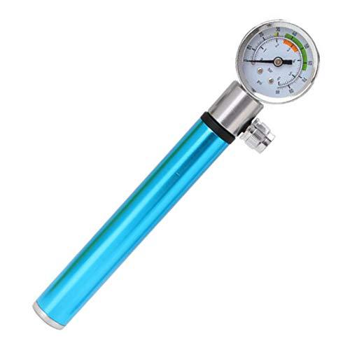 KCaNaMgAl Inflator, Luftdruckmesser, tragbare Aluminiumlegierung, Einstellung Fußball, Fahrrad, Mountainbike-Luftdruck,Blue