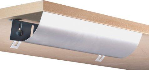 Eisnhauer® Kabelwanne abklappbar, 460 mm lang, für Schreibtische im Büro/Home-Office gegen den Kabelsalat am Arbeitsplatz - Büro-schreibtisch, Home