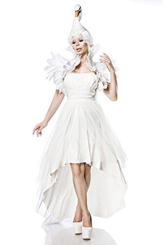 Generique - Mystisches Schwanen-Kostüm für Damen Fasching Weiss S