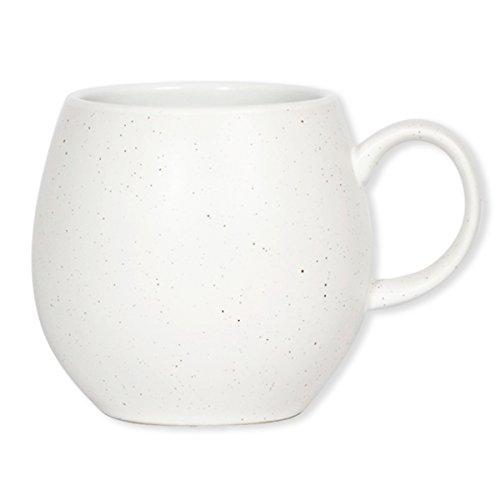 London Pottery Pebble Tasse Weiß gesprenkelt, Set 4 (Gesprenkelte Steingut)