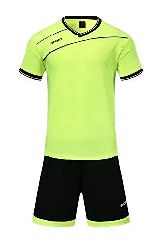 XFentech Herren Kinder Sommer Sportbekleidung Fußball Kleidung Oberteile und Shorts Set Training Wettbewerb Sport Kostüm Alle Größen, ()