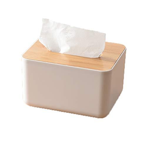 Little Beauty Moderne Gewebe-Box Tissue Box Bambus Holz Abdeckung Kunststoff Aufbewahrungsbox Fashion Home Abnehmbare Dekorative Papier Handtuchhalter Home Decoration (Color : B) -
