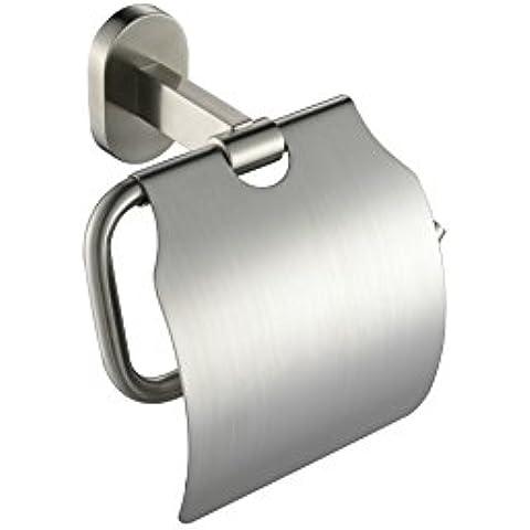 YUPD@Spazzolato 304 acciaio inossidabile parete montato toilet paper holder