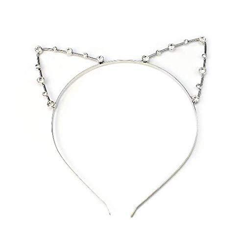 Kostüm Schmuck Niedliche Billig - Katzenohren Haarreif Ohren Kostüm Haar Reif Haarband Spange Katze Strass Schmuck