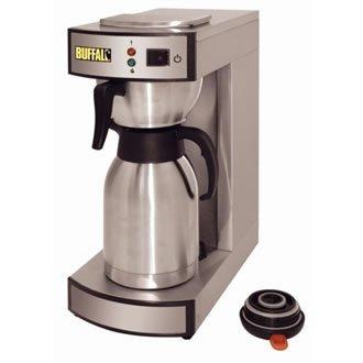 Elektrische Vakuum-thermoskanne (Buffalo Edelstahl POUR On Kaffeemaschine und Vakuum Fläschchen, 1,9Liter)