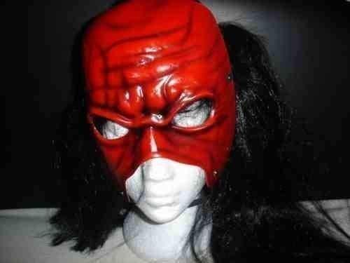 SOPHZZZZ TOY SHOP Kane Kostüm verkleiden Outfit Perücke Haarmaske Anzug, Ausrüstung Team Hölle kein Serie WWE Wrestling