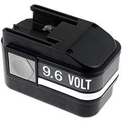 Powery Batterie pour AEG perceuse visseuse BS2E 9.6T, 9,6V, NiMH [ Batterie Outil électroportatif ]