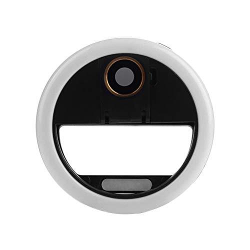 HEMOBLLO LED-Clip am Telefon Ring leuchtet Weitwinkel-Kameraobjektiv für Smartphone Laptop Kamera Fotografie (schwarz)