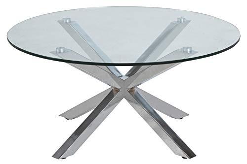 AC Design Furniture Couchtisch Heather, B: 82 x T:82 x H: 40 cm, Glas, Klar