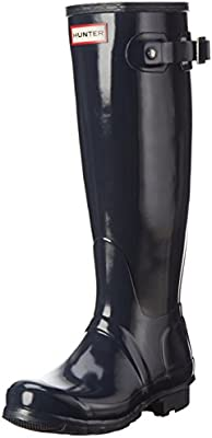 Hunters Original Tall Gloss - Botas de agua, color: Azul